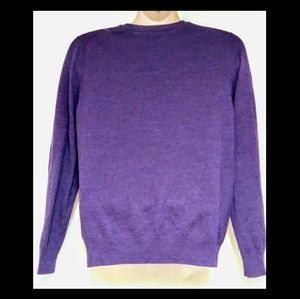 Apt. 9 Sweaters - Men's APT 9 V-Neck Purple Argule Sweater Large